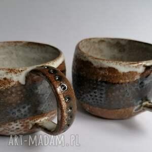 dwa etno - kubki francis, ceramika rękodzieło, kubek z gliny, dekoracja wnętrza