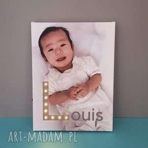 świecąca litera led personalizowany obraz twoje zdjęcie prezent na narodziny urodziny