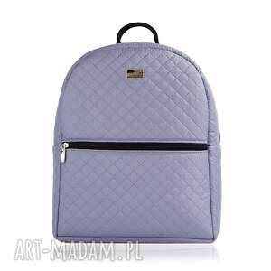 plecak damski 647 stalowy - plecak, damski, lekki, pojemny, wygodny