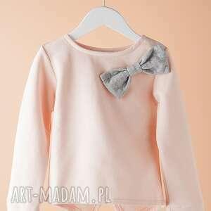 bluza db02r, kokarda, dziewczęca, wygodna, modna, stylowa, wyjątkowy prezent
