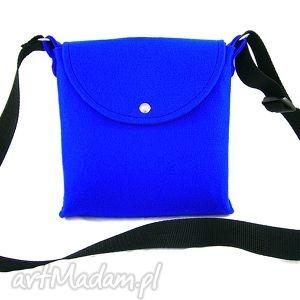 Trip blue bag, torebka, listonoszka, mała, codzienna, podręczna, filc