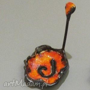 podstawek ognista laguna , dekoracja, wnętrze, tealight, ceramika, handmade, fusetka