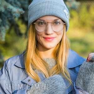 handmade czapki wywijana dwustronna logo kolorowe light gray