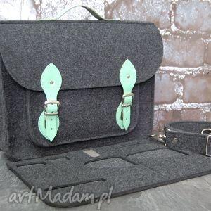 filcowa torba na laptopa z przegrodą 15 cali, laptop, torba, dokumenty, aktówka
