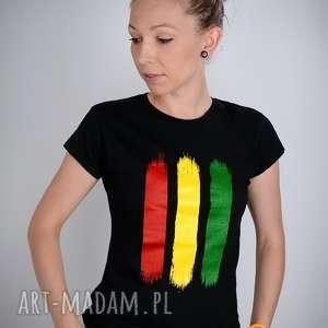 koszulka czarna rasta - damska, rasta, reggae, jamajka, t shirt, bluzka