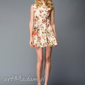 sukienki sukienka w kwiaty, sukienka, kwiecista, rozkloszowana, kolorowa, letnia