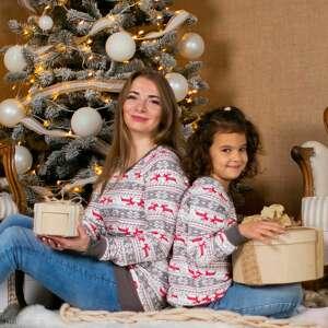 ręcznie wykonane pomysł na prezent świąteczny zestaw bluz christmas szare renifery boże