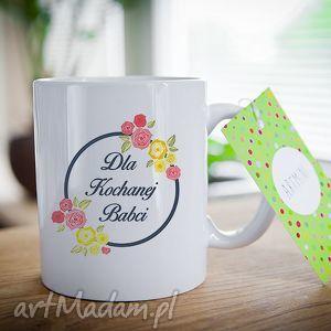 ręcznie wykonane ceramika kubek na prezent dzień babci i dziadka kochanej babci 0284