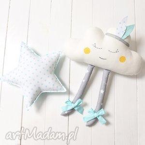 handmade maskotki chmurka z pióropuszem