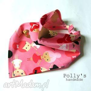 hand-made dla dziecka baletnice na różowym - chustka/apaszka