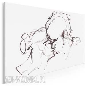 obraz na płótnie - para miłość pocałunek minimalistyczny 120x80 cm 703301