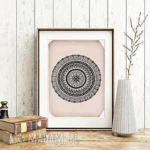 Mandala A3, plakat, ilustracja, obraz, mandala, etno