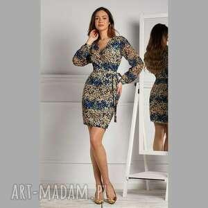 sukienka ivonne mini annika, mini, dopasowana sukienka, kopertowy