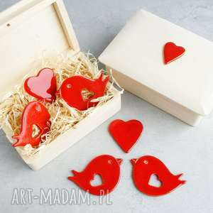 ślub zakochane ptaszki, walentynki, romantyczne, upominek, magnesy, ptaszki