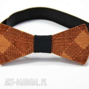 Muszka drewniana muchy i muszki the bow ties kratka,