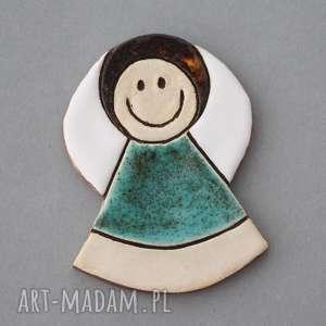 magnesy aniołek-magnes ceramiczny, minimalizm, chrzest, komunia, upominek