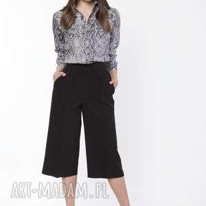 spodnie damskie kuloty, sd118 czarny, szerokie, luźne, wyjściowe