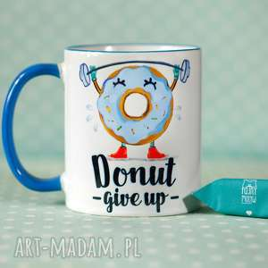 kubek donut give up ii, kubek, personalizacja, donut, prezent