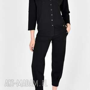 komplet z bawełny organicznej gaja czarny, sukienki, marynarka