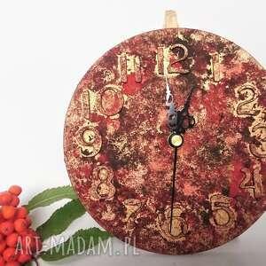 zegary bogato zdobiony zegar z betonu, betonowy zegar, betonu