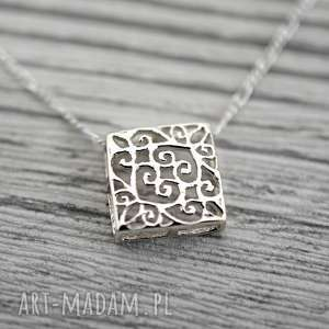 naszyjniki 925 ornament ii srebrny łańcuszek, orient, orientalny, srebro
