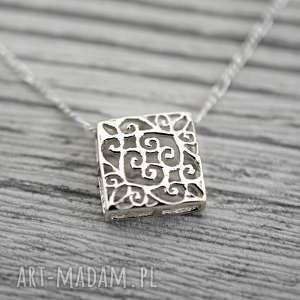 925 ornament ii srebrny łańcuszek - orient, orientalny, srebro, srebrny, lekki