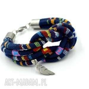 bransoletka boho gipsy knot with feather, boho, etniczna, węzeł, z piórkiem