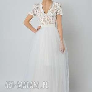 śnieżyczka - tiulowa spódnica ślubna, spódnica, tiul spódnice ubrania