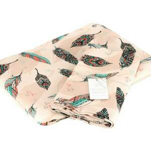 otulacz bambusowy premium piórka boho zestaw z poduszką, dla niemowląt