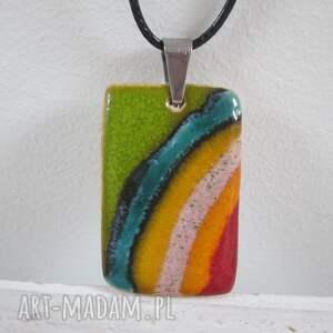 power color naszyjnik, ceramiczny, kolorowy, etniczny, wielobarwny, energetyczny