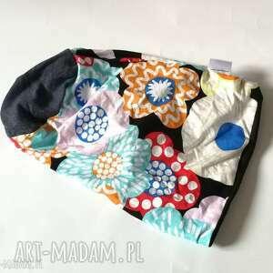 Czapka damska dzianinowa wzorzysta długa-box 11-czapka