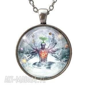 chakra - duży medalion z łańcuszkiem egginegg - nostalgiczny