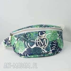 ręczne wykonanie nerki saszetka biodrówka nerka w palmy liście - polska marka