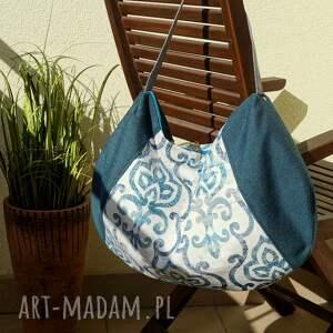handmade na ramię worek - ornamentowy
