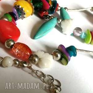 naszyjniki naszyjnik z różnych kamienie i koralików, naszyjnik, koral, turkus