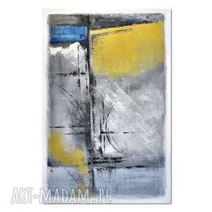 due, abstrakcja, nowoczesny obraz ręcznie malowany, obraz, ręcznie, malowany