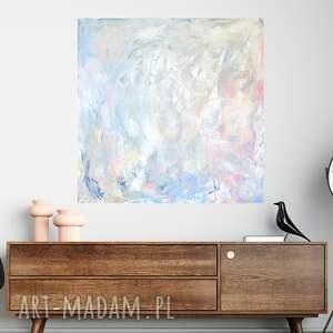 pastelowy obraz 90x90, jasny obraz, jasna abstrakcja, nowoczesny