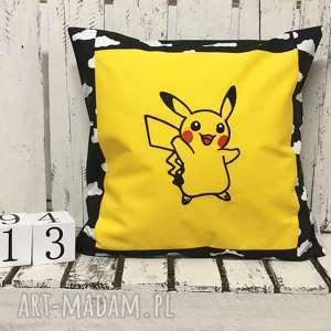 ręcznie robione pokoik dziecka poduszka dziecięca z haftem 40x40cm - pokemon