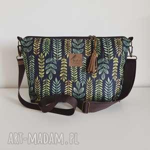 handmade na ramię torebka mini plus pocket zielnik botaniczny & frędzel washpapa