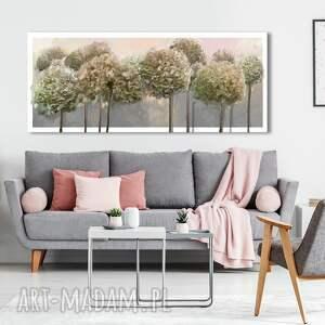 obraz drukowany na płótnie kwiaty hortensji ogrodowej w pastelowych barwach -format