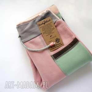 only one no 27 - spodnie 140 cm mięta róż, dres, bawełna, eco, wygodne, kolorowe