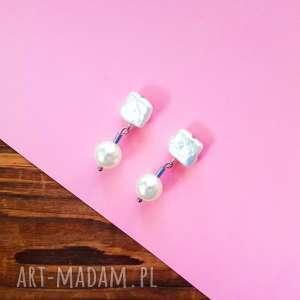 Whw splendor pearl w hand works kolczyk, perła, perły, naturalne