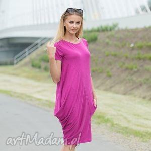 ręcznie zrobione sukienki creases pink