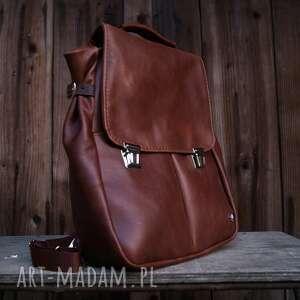 lilith chimera plecak/torba skóra naturalna orzechowy brąz, plecako torba, 2w1