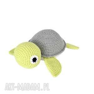 Miś Żółwik S - szaro seledynowy , miś, żółw, maskotka