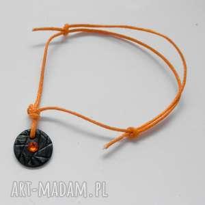 bransoletki okrąg bransoletka, srebro, swarovski, sznurek, oksydowane, świąteczny