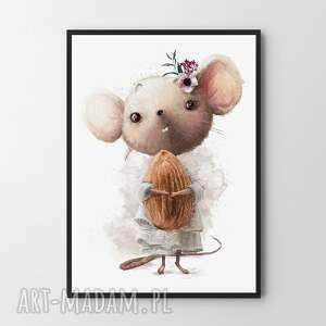 ręczne wykonanie pokoik dziecka plakat obraz mysza 61x91cm