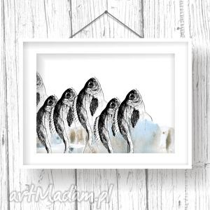 grafika rybny targ... art print
