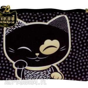Prezent portmonetka mani lucky cat black, kimmidoll, portmonetka, prezent, manicat