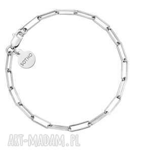 srebrna masywna bransoletka - prostokąty, srebro925, elegancka, musthave